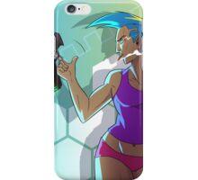 Cyborg Lady With Gun iPhone Case/Skin