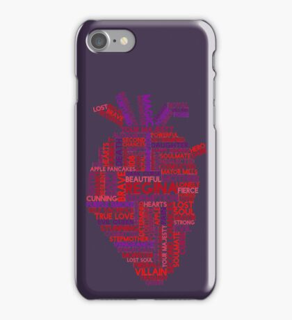 "Regina ""Evil Queen"" Mills Typography Once Upon A Time iPhone Case/Skin"