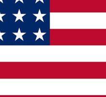 American flag North Dakota outline Sticker