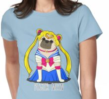 Puglor Moon Womens Fitted T-Shirt