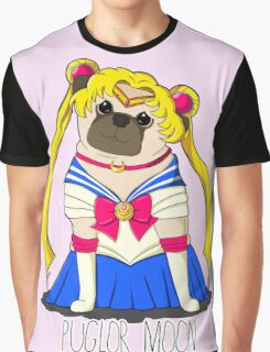 Puglor Moon Graphic T-Shirt