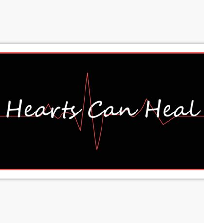 Hearts Can Heal Sticker