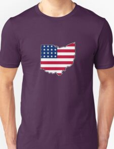 American flag Ohio outline T-Shirt
