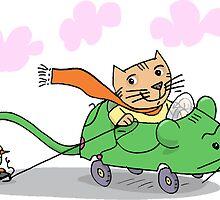 Katze auf Reisen by Theo Kerp