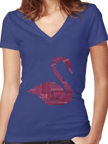 Emma Swan Typography Once Upon A Time Women's Fitted V-Neck T-Shirt