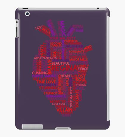"""Regina """"Evil Queen"""" Mills Typography Once Upon A Time iPad Case/Skin"""