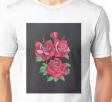 "Red Roses-Oil on canvas-14""H by 11""W Unisex T-Shirt"