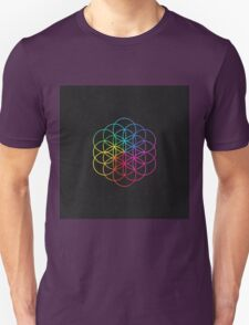 "Coldplay - ""Flower of Life"" from their new album ""A Head Full Of Dreams"". Chris Martin.  T-Shirt"