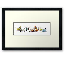 Cats n Hearts Framed Print