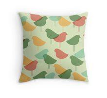 Spring vintage birds Throw Pillow