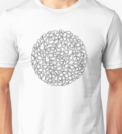 Circular Water Blobs Unisex T-Shirt
