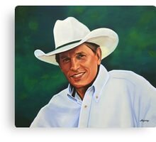 George Strait painting Canvas Print