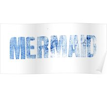 Mermaid (Blue) Poster