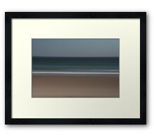 Seascape, line in the sand. Framed Print