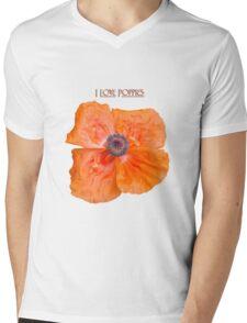 I Love Poppies Mens V-Neck T-Shirt