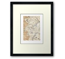 Lord Of The Rings Map - Hand Drawn * Notebooks and Journals added * Framed Print