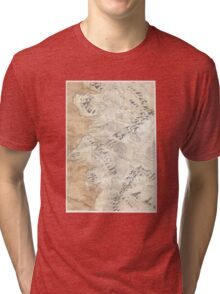 Lord Of The Rings Map - Hand Drawn * Notebooks and Journals added * Tri-blend T-Shirt