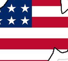 American flag West Virginia outline Sticker