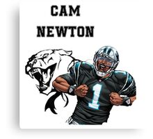 Cam Newton Panthers Canvas Print
