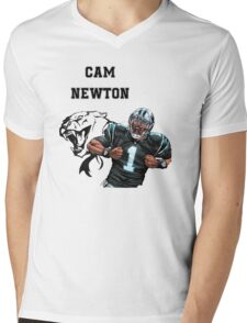 Cam Newton Panthers Mens V-Neck T-Shirt