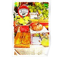 Farmer Market: scale and pumpkin Poster