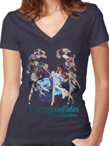 Fire Emblem Fates - Hoshido & Nohr (REVELATION) Women's Fitted V-Neck T-Shirt