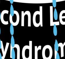 Second Lead Syndrome - Black Sticker