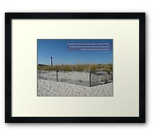 White Sand Beaches Framed Print