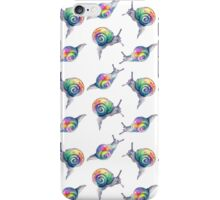 Rainbow Snails Hand-Painted Pattern iPhone Case/Skin