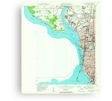 New York NY Buffalo NW 123036 1950 24000 Canvas Print