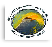 Early Morning wave Canvas Print