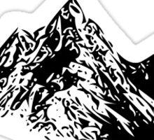 Mountain Range Sticker Sticker
