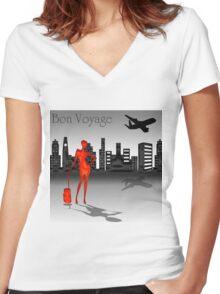 Bon voyage Women's Fitted V-Neck T-Shirt
