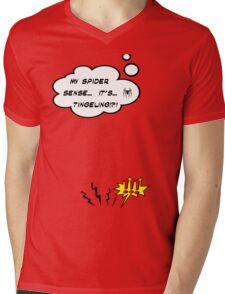 DAMN THIS SPIDER SENSE!?!!.. Mens V-Neck T-Shirt