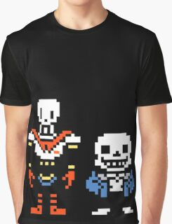 Undertale - Skeleton Brothers Graphic T-Shirt