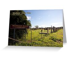 Historic Jewish Cemetery, Maitland Australia Greeting Card