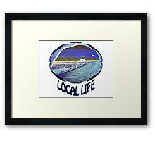 """Local Life 805 """"Full Moon Tube"""" t-shirt Framed Print"""