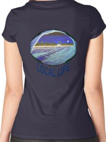 "Local Life 805 ""Full Moon Tube"" t-shirt Women's Fitted Scoop T-Shirt"