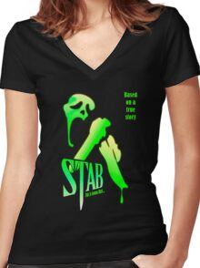Stab (from the Scream movie) Women's Fitted V-Neck T-Shirt