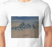 "Everest In The Clouds-Oil on canvas-11""H by 14""W Unisex T-Shirt"