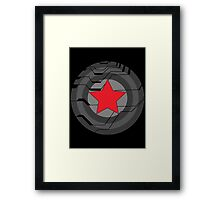 Winter Soldier Shield Framed Print