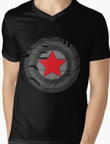 Winter Soldier Shield Mens V-Neck T-Shirt