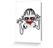 zombie funny creepy blood cool Greeting Card