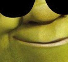 Shrek with Shades Sticker