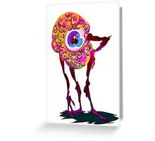 LITTLE EYEBALL MAN  Greeting Card
