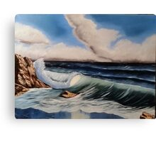 The Power Of The Ocean-Oil on canvas-18″H by 24″W Canvas Print