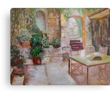 Stone terrace Canvas Print