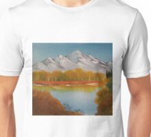 "Autumn Trees-Oil on canvas-11""H by 14""W Unisex T-Shirt"