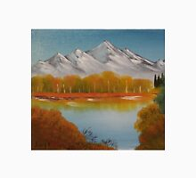 """Autumn Trees-Oil on canvas-11""""H by 14""""W Unisex T-Shirt"""