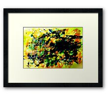 Yellow Blue's Framed Print